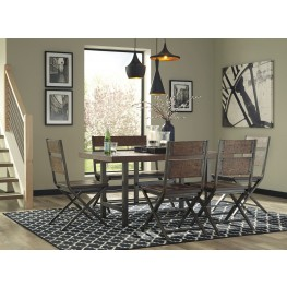 Kavara Medium Brown Rectangular Dining Room Set