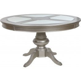 Regency Park Pearlized Platinum Round Dining Table
