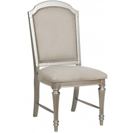 Regency Park Pearlized Platinum Dining Chair Set of 2