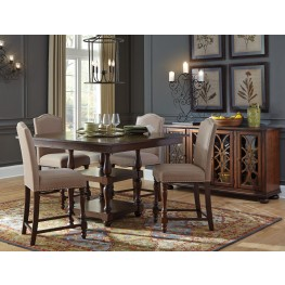 Baxenburg Brown Square Counter Height Dining Room Set