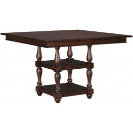 Baxenburg Brown Square Counter Height Dining Table