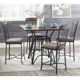 Zanilly Two-tone Square Counter Height Dining Room Set