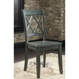 Mestler Antique Blue Side Chair Set of 2