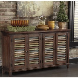 Mestler Dark brown Dining Room Server