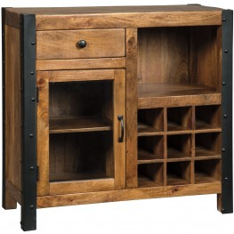 Glosco Warm Brown Wine Cabinet