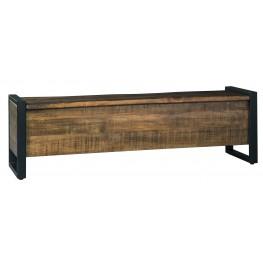 Glosco Light Brown Storage Bench