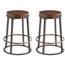 Glosco Medium Brown Counter Stool Set of 2