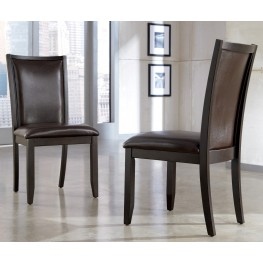 Trishelle Dining Upholstered Brown Side Chair Set of 2