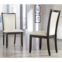 Trishelle Dining Upholstered Cream Side Chair Set of 2