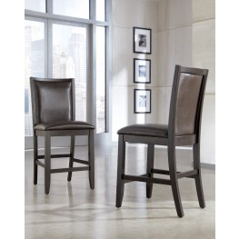 Trishelle Brown Upholstered Counter Stool Set of 2