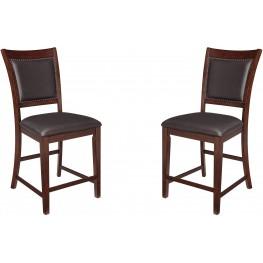 Collenburg Brown Upholstered Barstool Set of 2