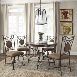 Brulind Brown Round Dining Room Set