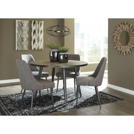 Coverty Light Brown Round Dining Room Set