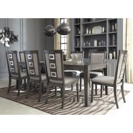 Wonderful Chadoni Gray Rectangular Extendable Dining Room Set ...