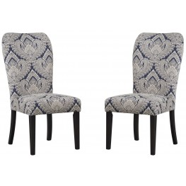Sharlowe Indigo Dining Upholstered Side Chair Set of 2