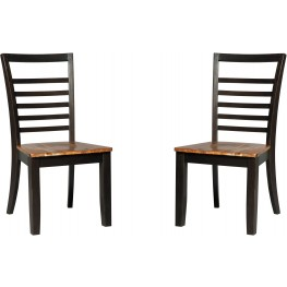 Quinley Two-Tone Side Chair Set of 2