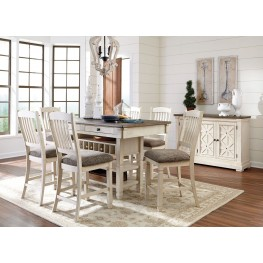 Bolanburg White and Gray Rectangular Counter Height Dining Room Set