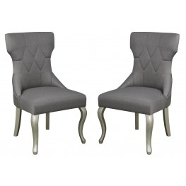 Coralayne Dark Gray Dining Upholstered Side Chair Set Of 2