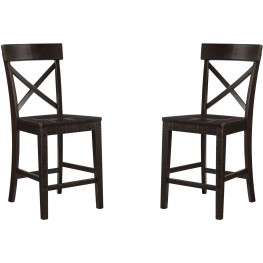 Gerlane Dark Brown Counter Stool Set of 2