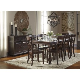 Gerlane Dark Brown Extendable Rectangular Dining Room Set