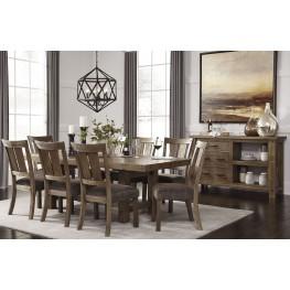 Tamilo Gray/Brown Rectangular Extendable Dining Room Set