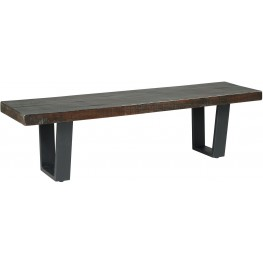Parlone Dark Brown Large Dining Room Bench