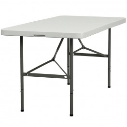 30''W x 60''L Plastic Bi-Fold Folding Table