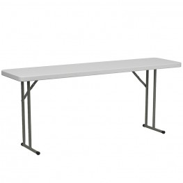 18''W x 72''L Granite White Plastic Folding Table