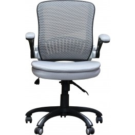 Silver Gas Lift Desk Chair