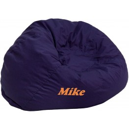 32118 Personalized Small Solid Navy Blue Kids Bean Bag Chair