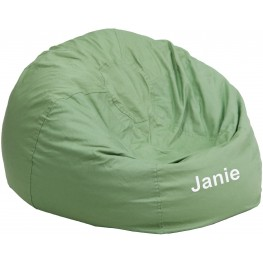 32110 Personalized Small Solid Green Kids Bean Bag Chair