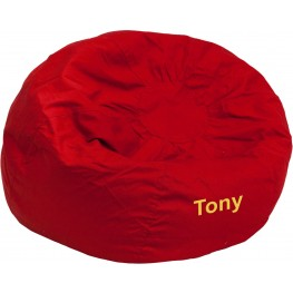 32122 Personalized Small Solid Red Kids Bean Bag Chair