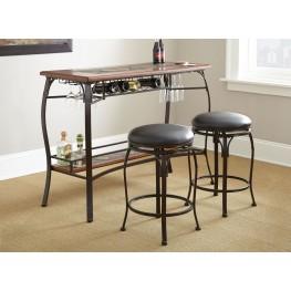 Dakota Wine Storage 3 Piece Counter Bar Set