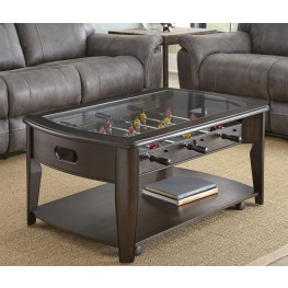 Diletta Dark Walnut Cocktail Table With Foosball