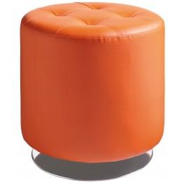 Domani Orange Small Swivel Ottoman
