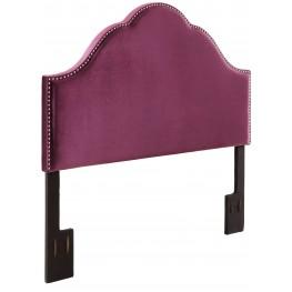 Glam Velvet Plum King Upholstered Headboard