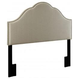 Glam Tux Oatmeal King Upholstered Headboard