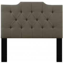 Taupe Full/Queen Upholstered Panel Headboard