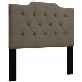 Taupe King/Cal. King Upholstered Panel Headboard