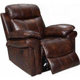 Shae Joplin Brown Leather Power Reclining Chair