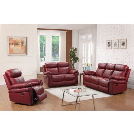 Shae Joplin Red Leather Power Reclining Living Room Set
