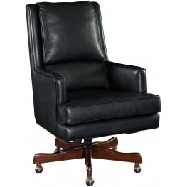 Wright Black Leather Executive Swivel Tilt Chair