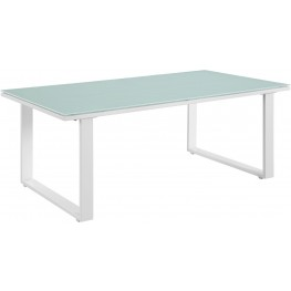 Fortuna White Outdoor Patio Coffee Table