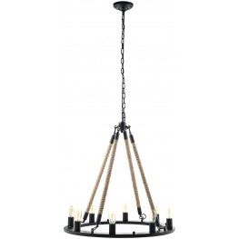 Encircle Black Chandelier