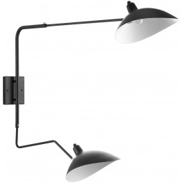 View Black Double Fixture Wall Lamp