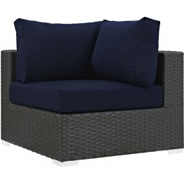 Sojourn Canvas Navy Outdoor Patio Sunbrella Corner