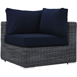 Summon Canvas Navy Outdoor Patio Sunbrella Corner