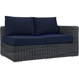 Summon Canvas Navy Outdoor Patio Sunbrella RAF Loveseat