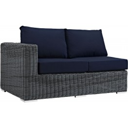 Summon Canvas Navy Outdoor Patio Sunbrella LAF Loveseat