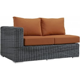 Summon Canvas Tuscan Outdoor Patio Sunbrella LAF Loveseat